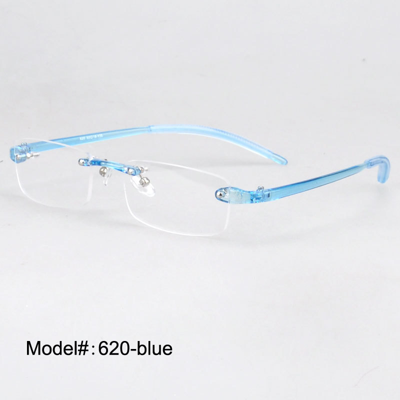 Plastglasögon Rimless Men Women Ultraljus Frameless Glasses Spectacles Eyewear 620