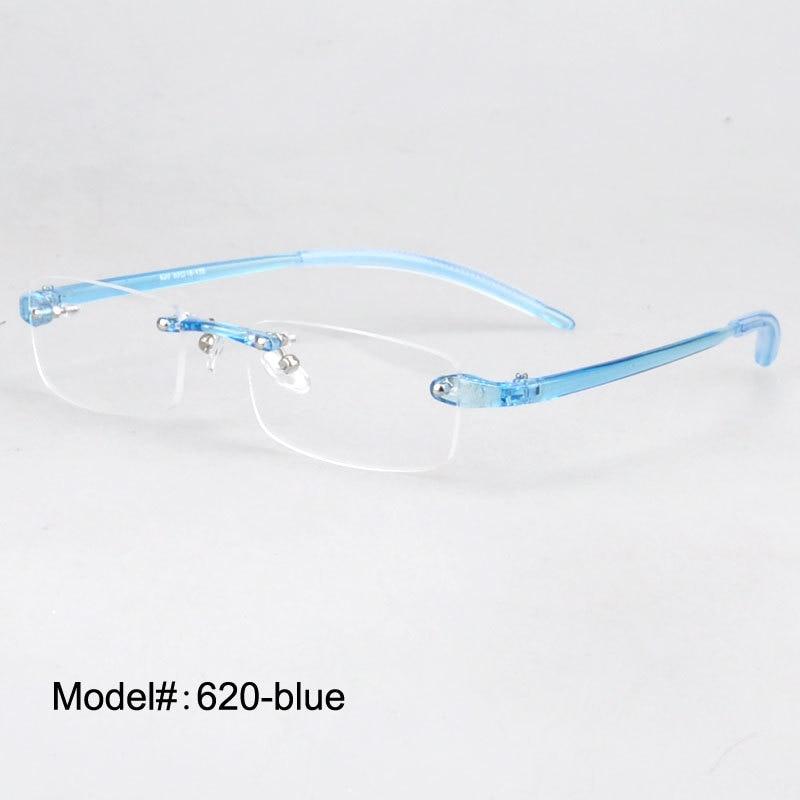Plast briller Rimløse menn Kvinner Ultra-lys Frameless Glasses Spectacles Eyewear 620