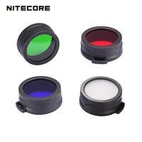 Wysokiej jakości obsługi Nitecore RGB latarka filtr rozproszone mineralnych powlekane szkło obiektywu dla latarki z głowicą 60mm TM15 TM11 w Akcesoria do przenośnych lamp od Lampy i oświetlenie na