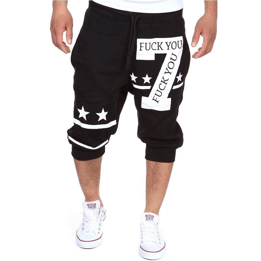 2018 Mens Shorts Casual Bermuda Brand 7 Alphabet Printing Compression Male Cargo Shorts Men Linen Fashion Men Short Summer Linen