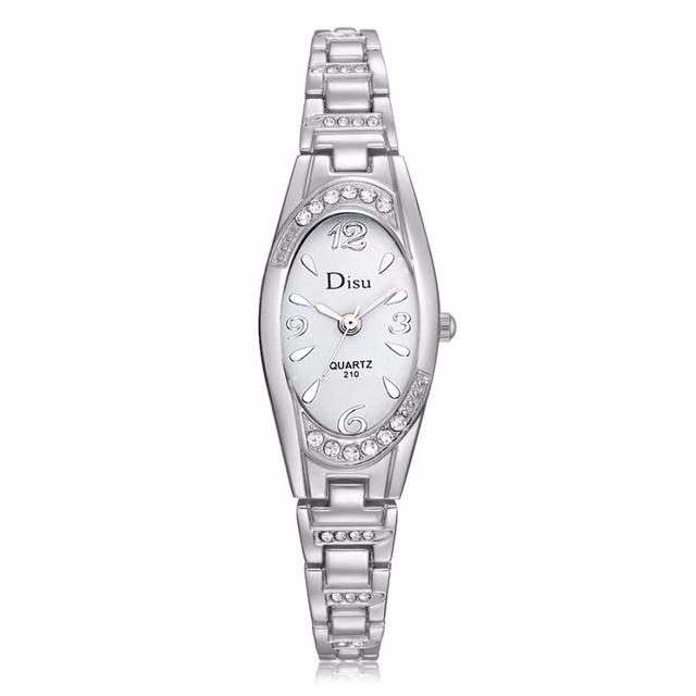 Vogue Oval Small Dial Watches For Women Elegant Rhinestone Bracelet Watch  Ladies Diamond Dress Quartz Wrist Watch Relogio  LH a1cc4c3660