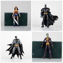 18CM Heroes Batman Joker Wonder Woman PVC Action Figure Kids Toys Gift for Children Free shipping