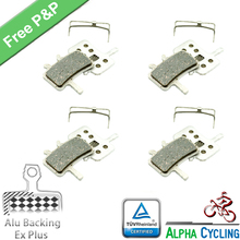 Bicycle Disc Brake Pads for Avid BB7, All Juicy 3 5 7 Models ; Alu-Alloy Backing + Ex Plus, 2 Pairs/Order