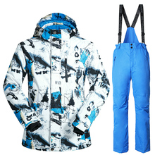 Brand Winter Ski Suit Mens Snowboard Jacket Pants Waterproof Windproof Thermal Outdoor Skiing Clothes