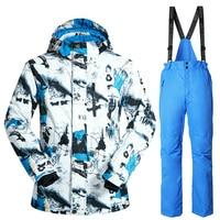 Brand Winter Ski Suit Mens Snowboard Jacket Pants Waterproof Windproof Thermal Outdoor Skiing Clothes