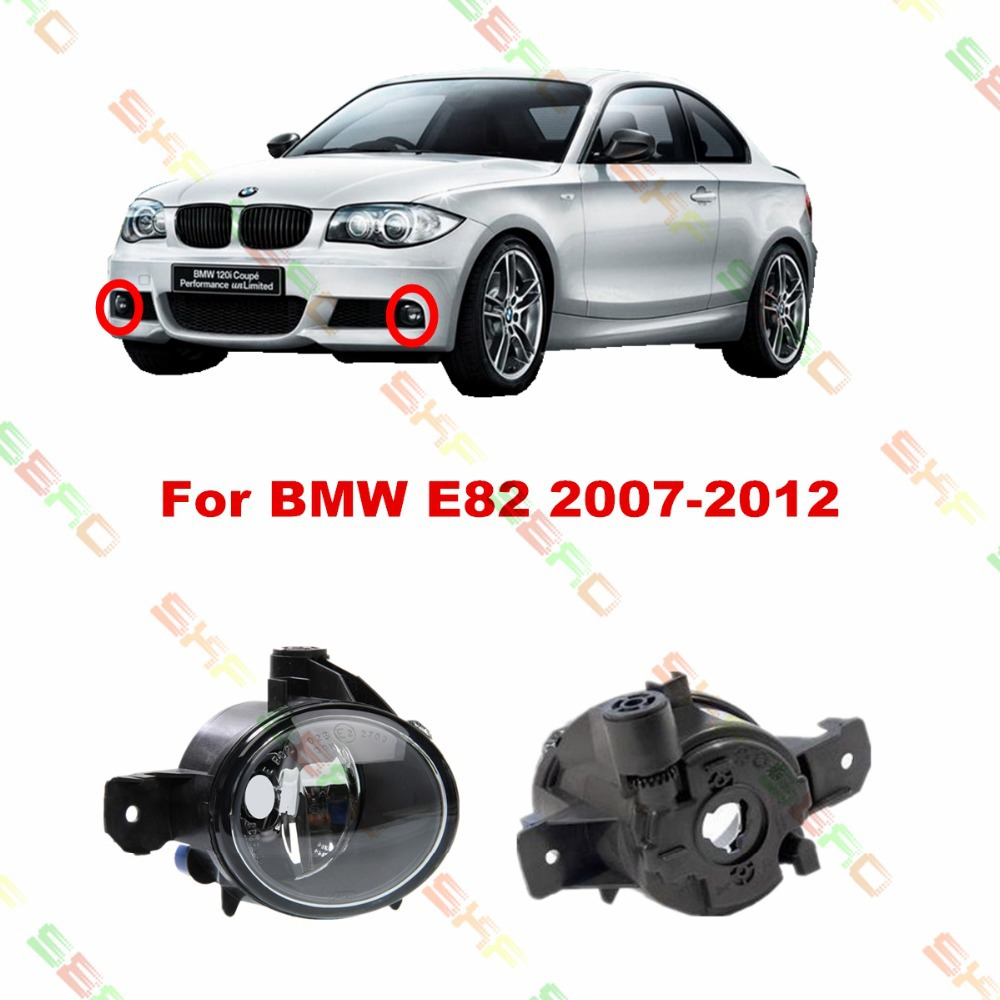 For BMW E82  2007/08/09/10/11/12  car styling fog lights   1 SET for bmw e90 2007 08 09 10 11 car styling fog lights 1 set fog lamps