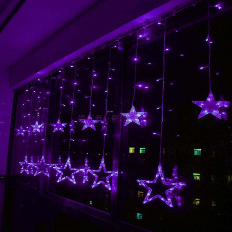 2X1m Purple LED String Curtain LIGHTS Holiday CHRISTMAS