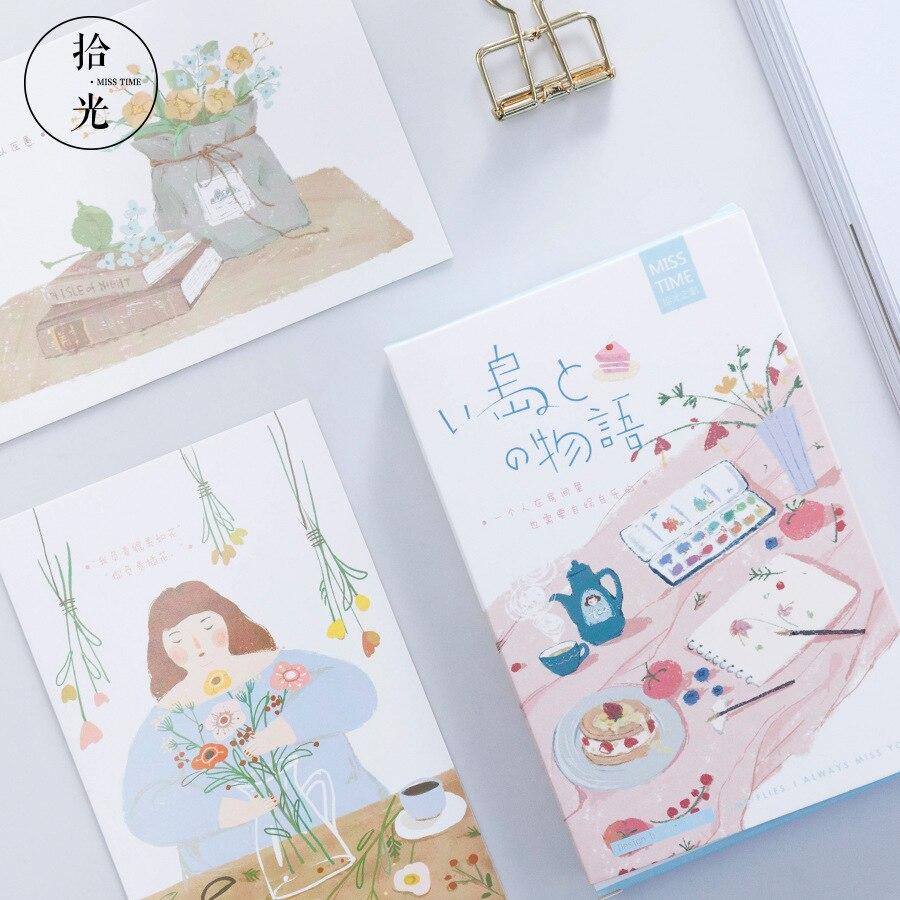 30 Sheets/Set Novelty Girls Daily Life Postcard/Greeting Card/Wish Card/Christmas Gift