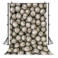 5x7ft Baseballs Sports Game School Match Party Birthday Polyester Photo Background Portrait Backdrop