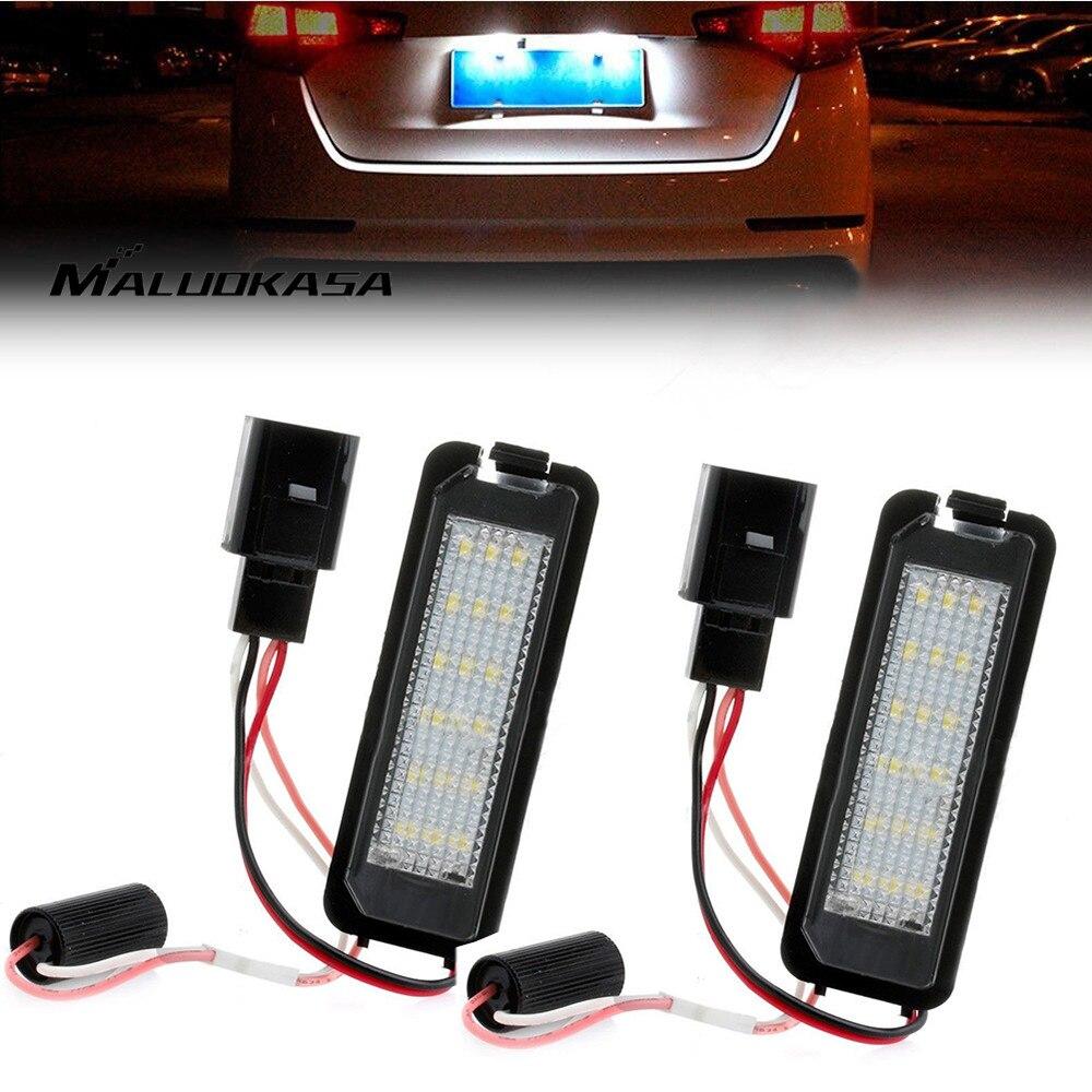 MALUOKASA 2x Error Free LED License Plate font b Lamp b font Number plate Light Rear