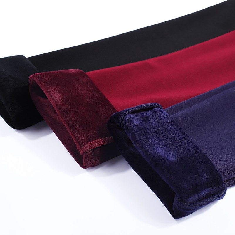 Thicken Warm Plus Velvet Women Trousers 16 Winter Black Red Blue High Waist Stretch Pencil Pants Female Fleece Office Pantalon 24