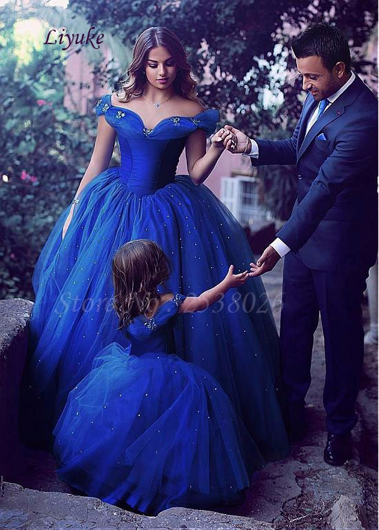 NEW!-Attractive-Tulle-Off-the-shoulder-Neckline-Ball-Gown-Formal-Dresses-With-Hot-Fix-Rhinestone