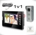 Стабильное Качество Цвета 7 inch Видео-Телефон Двери Домофон 700 линии HD Камера С Дверью Выход Бесплатная Доставка