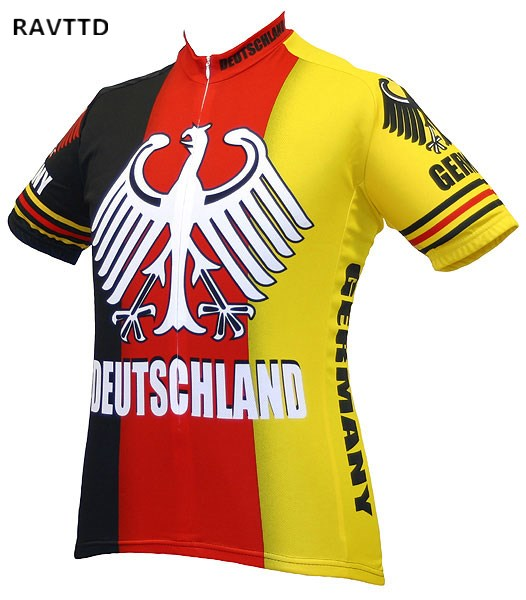 Deutschland Cycling Jersey Ropa Ciclismo Cycling Clothing Germany Bike Wear  Clothes Short Sleeves Maillot Ciclismo Sportswear 244d334de