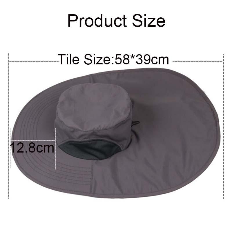 de aba larga chapéu à prova dadjustable