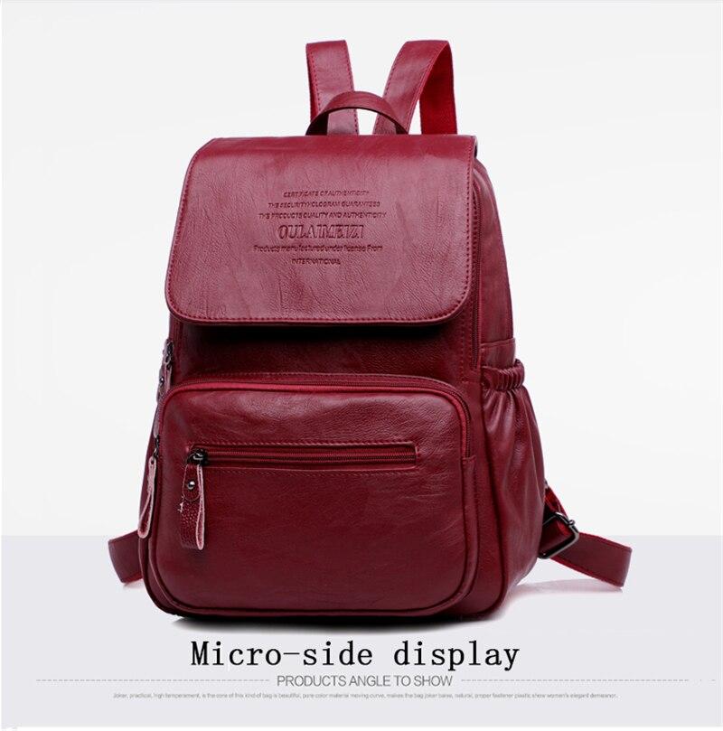 HTB1BK8Ri98YBeNkSnb4q6yevFXah LANYIBAIGE 2018 Women Backpack Designer high quality Leather Women Bag Fashion School Bags Large Capacity Backpacks Travel Bags