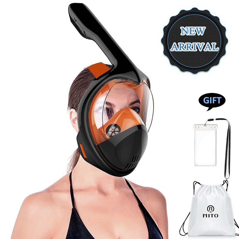 все цены на 2018 New Underwater Scuba Anti Fog Full Face Diving Mask Snorkeling Set Respiratory Masks Safe And Waterproof онлайн