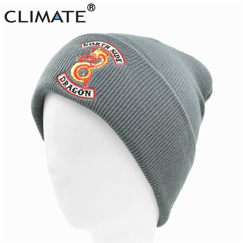 239bed444b0c5 Detail Feedback Questions about CLIMATE Riverdale Winter Hats Beanie North  Side Chinese Drangon Warm Beanie Hat Black Warm Knit Beanie Black Hat Cap  for Men ...