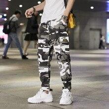 2019 Joggers Men Sweatpant Fashion Color Camo Cargo Pants Baggy Tactical Trouser Hip Hop Casual Multi Pocket Pant Streetwear