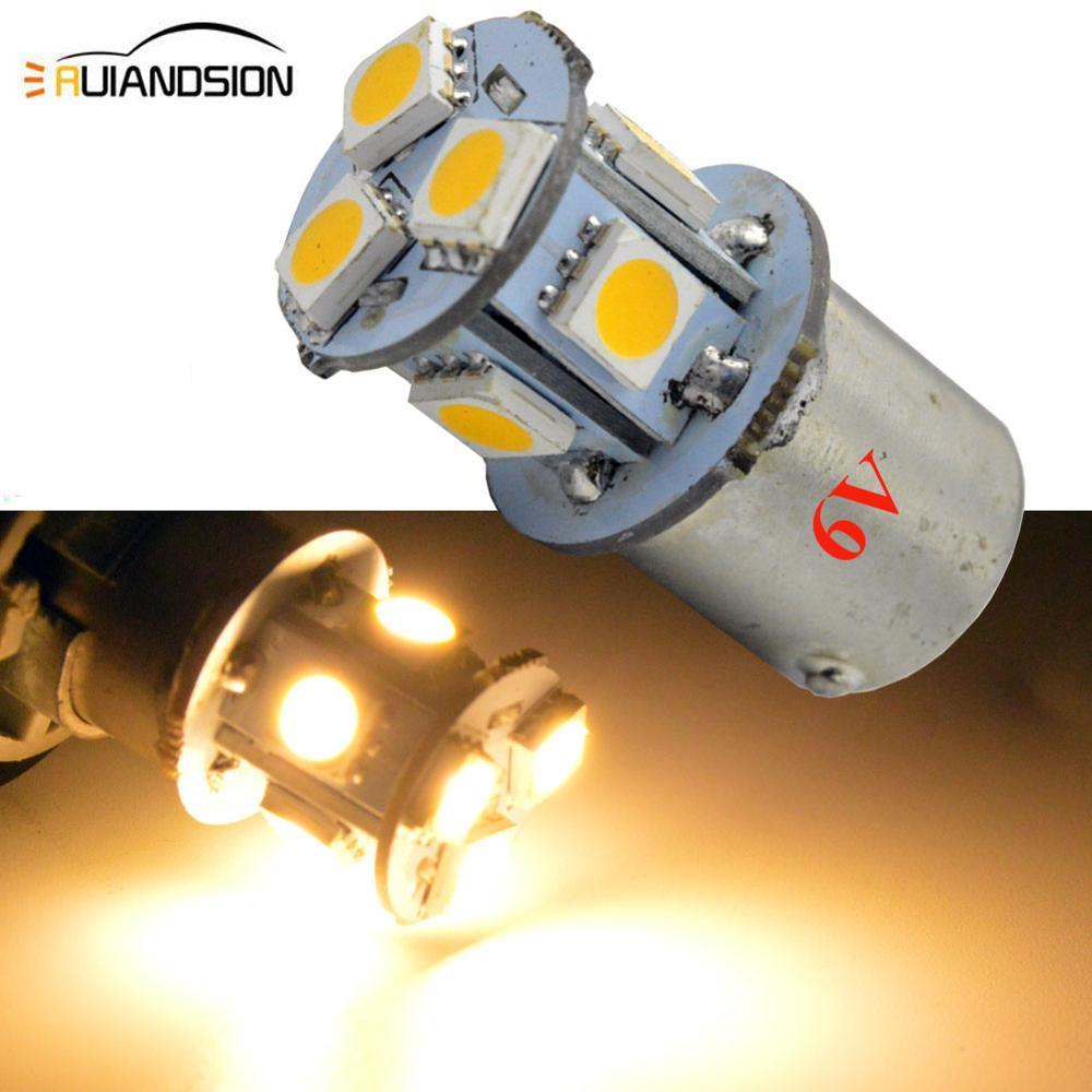 2 шт. AC/с источником питания от постоянного тока, 6V белый 5050 8SMD светодиодные лампы 1156 BA15S автомобиль внедорожник мобильного телефона резервно...