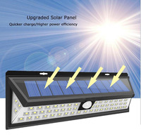 5 pieces 9W 118 leds high bright wide angle solar energy motion sensor led outdoor wall light
