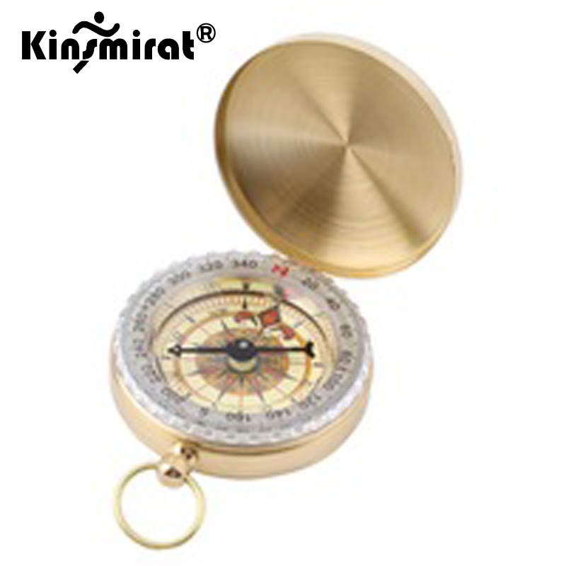 Brass Noctilucent Compass Camping Jungle Hiking Military Wild Survival Tools UK