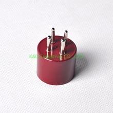 2pcs Red 4Pin Tube Base Bakelite Socket U4A 300B 2A3 Triode Valve DIY Repair Audio Parts