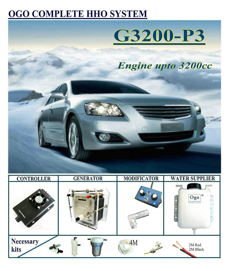 OGO Complete HHO System G3200-P3 Normal PWM Controller Upto Engine 3200CC Universal Cars