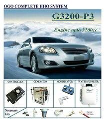 OGO Sistema completo HHO G3200-P3 controlador PWM Normal hasta el motor 3200CC coches universales