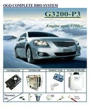 OGO komple HHO sistemi G3200 P3 Normal PWM denetleyici kadar motor 3200CC evrensel arabalar