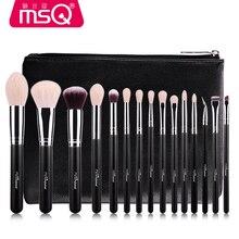 MSQ 15pcs Brush Set Professional Soft Makeup Brushes Foundation Eye Face Cosmetic Make Up Brush Tool Kit +Bag