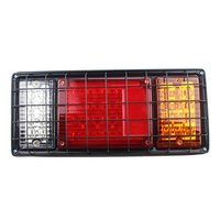 2pcs 12V 80 LEDs Metal Frame Brightness Tail Stop Light Brake Lights Rear Indicator Light For
