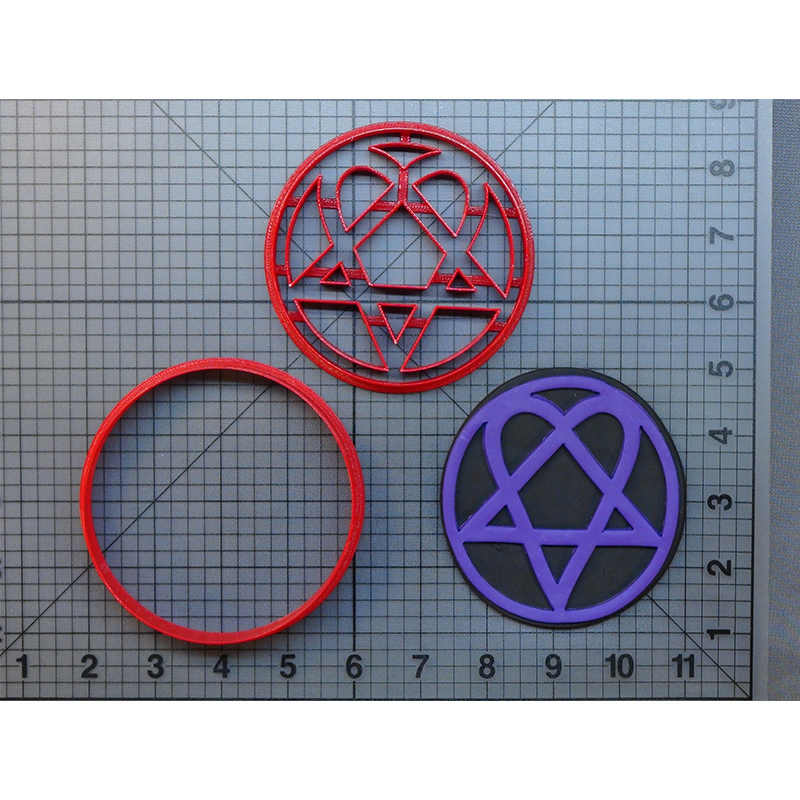 Heartagram Design Cookie Cutter Set Custom Made 3D Printed Fondant Cupcake Top Cake Decoration Tools cortadores de fondant