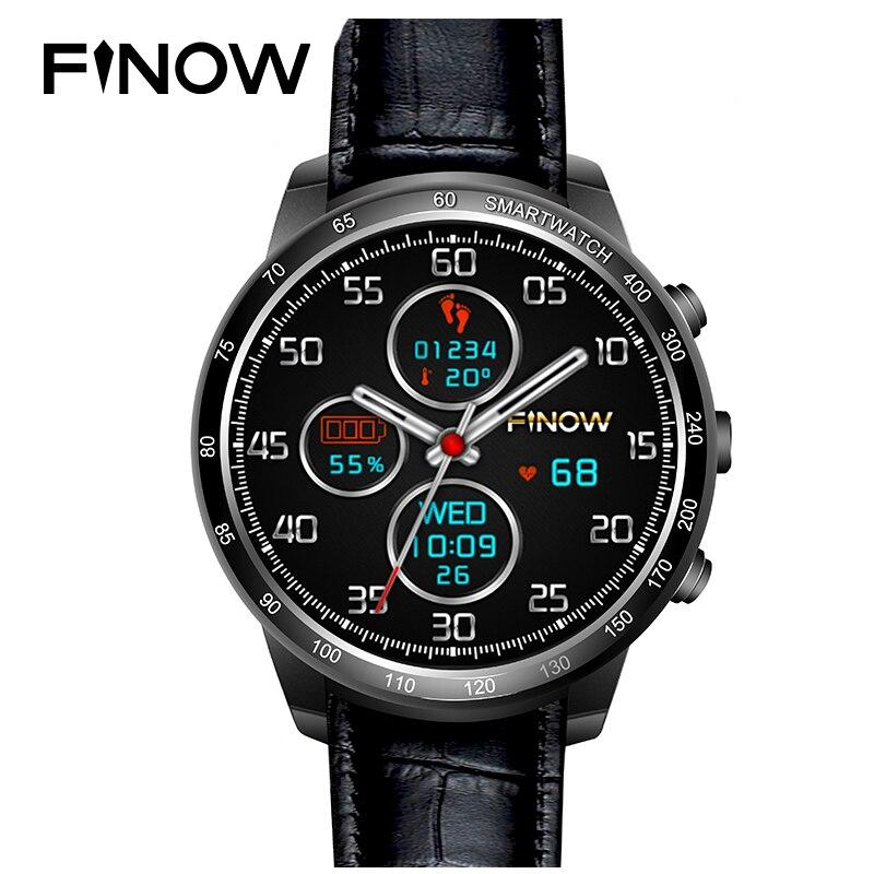 Finow Q7 Plus Smart Uhr Android 5.1 Unterstützung 32 gb TF Karte Mit 0.3MP Kamera 3g Wifi Bluetooth Für Android PK LF17 Smartwatch