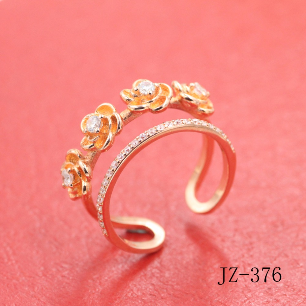 Classic set auger zircon woman ring 18 k rose ring The roses rings ...
