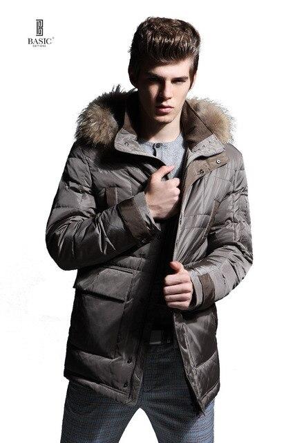 BASIC-EDITIONS 2016 мужская одежда зимняя куртка утка вниз съемный капюшон парка мужчины пуховики bc1-056y бесплатная доставка