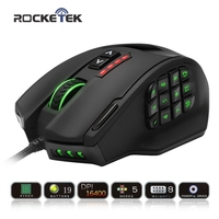 Rocketek GamKoo Series 50 To 16400 DPI High Precision Laser MMO Gaming Mouse For PC 19