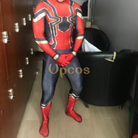 2018 Spiderman Costume Spiderman Homecoming Cosplay Costume 3D Print Lycra Iron Spider Man Suit Zentai Mask
