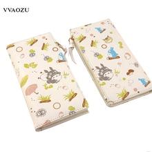 Mi Vecino Totoro/Natsume Yuujinchou/Love Live/Neko Atsume PU Del Estilo Largo Monedero Anime Monedero de la Historieta Titulares de la tarjeta Carteira