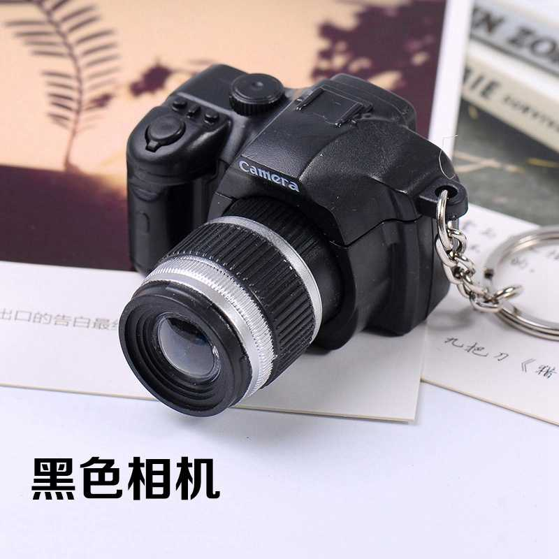 LED مضيئة الصوت والضوء قلادة الكاميرا مفتاح سلسلة البلاستيك كاميرا لعب الأطفال الرقمية SLR كاميرا لعب الأطفال-ZWX132