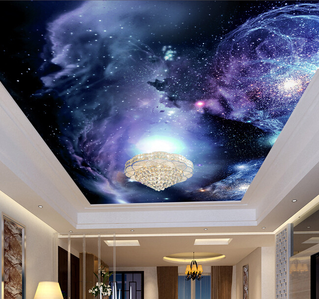 Custom Wallpaper Sky The Space Of Stars In Living Room Bedroom Wall Waterproof Pvc Papel De Parede Wallpapers From Home