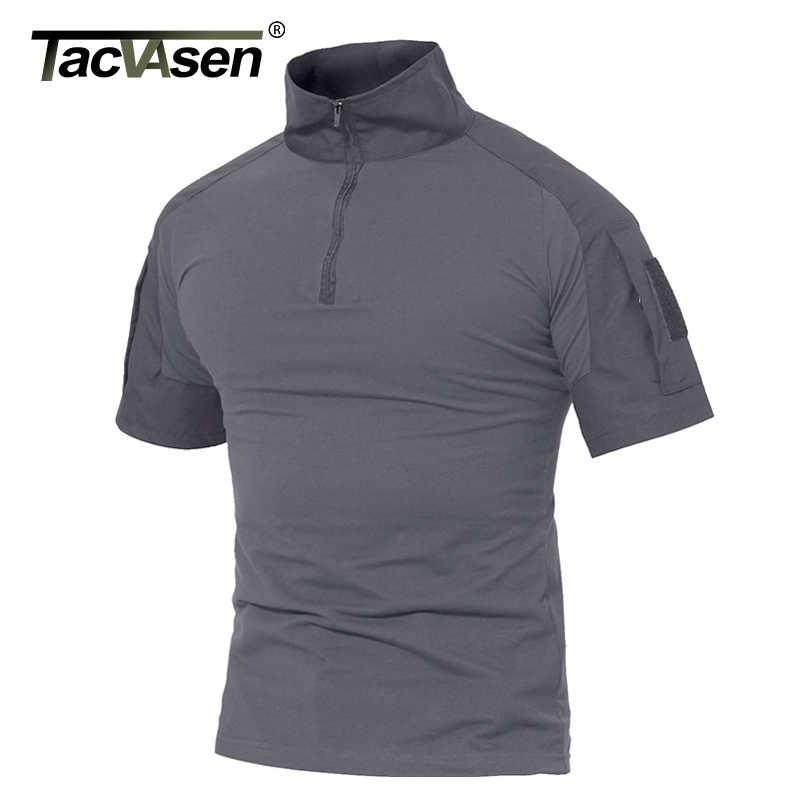 Tacvasen男性の夏のtシャツエアガン軍の戦術的なtシャツ半袖ミリタリー迷彩コットンtシャツペイントボール服