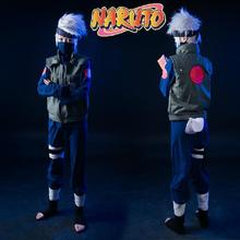New Arrival Deluxe font b Naruto b font font b Cosplay b font Costume Hatake Kakashi