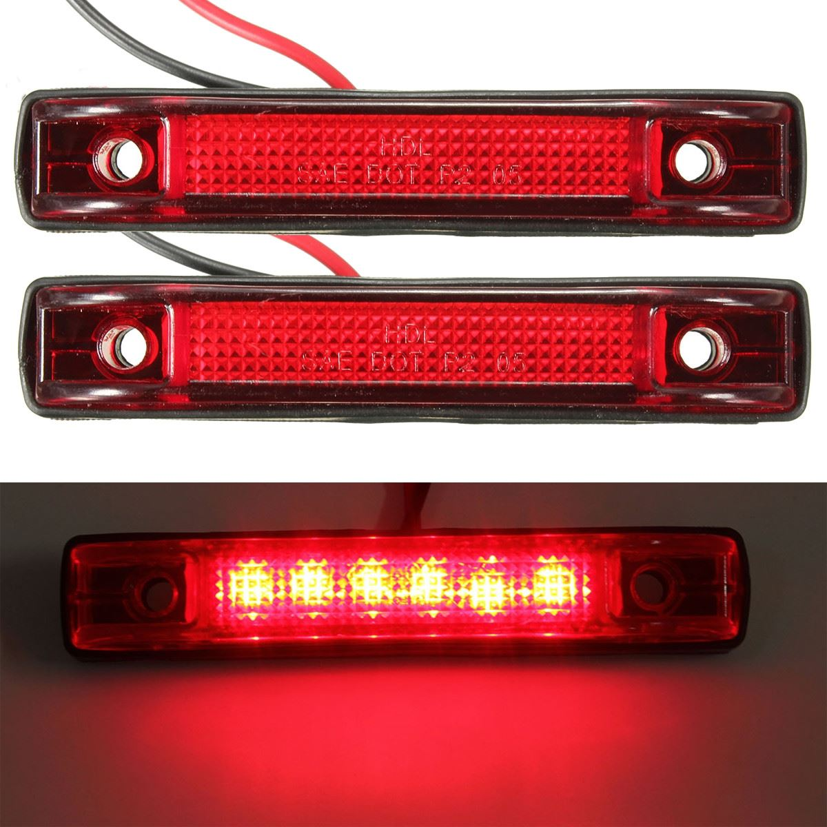⑦2pcs 6 Led Clearance Side ᐅ Marker Marker Light Indicator