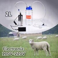 Electric Portable 2L 3L Milking Machine Double Head Milk Vacuum Pump Bucket Milker 0.8 Gal Barrel Sheep Goat Cow Ewe Inflation