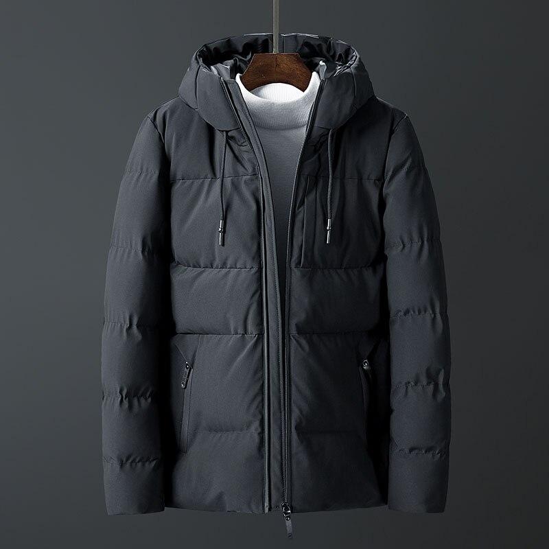 Zorro Kni ght 2018 veste chaude épaisse hommes marque d'hiver vêtements à capuche veste d'hiver pour hommes top qualité parkas mâle noir café