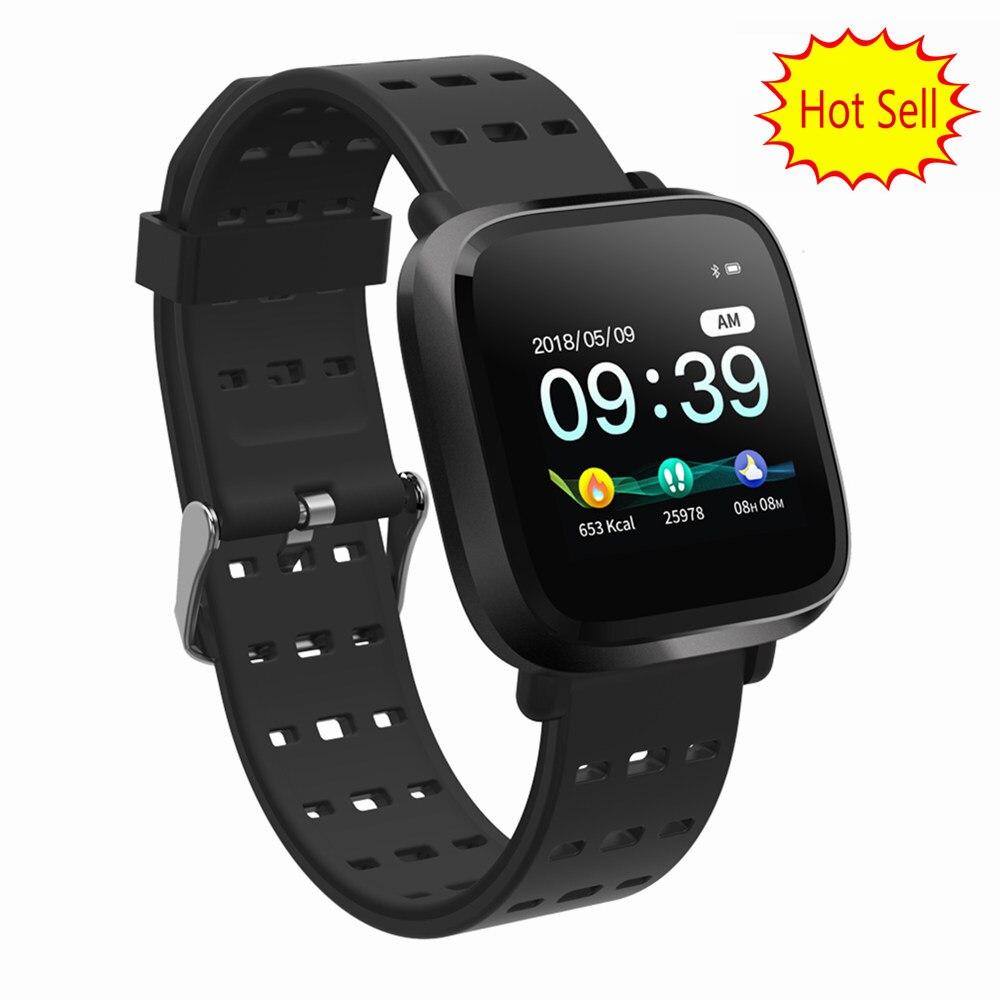 Y8 Smart Watch Men IP67 WaterProof Bracelet Blood Pressure Blood Oxygen Tracker Women Smartwatch Same Appearance As Fitbit Versa