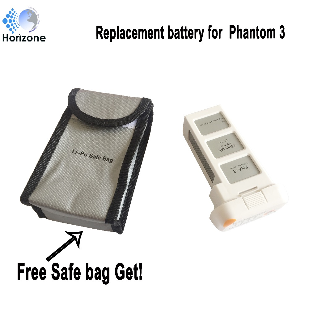 Free Safe bag !HORIZONE  4500mAh Replacement DJI Phantom 3 battery for DJI Phantom 3 SE  Phantom 3 Advanced free shipping original dji tb47d battery 99 9wh 4500mah 22 2v for matrice 100 high performance
