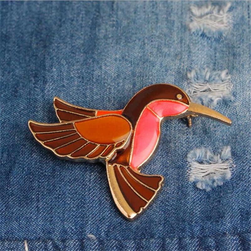 2018 Baru Elegan Wanita Wanita Fashion Retro Terbang Burung Bentuk Korsase Gesper Syal Gesper Bros Pin Aksesoris