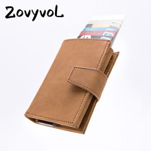 ZOVYVOL 2019 New Arrival PU Leather Unisex Business ID Holders RFID Blocking Credit Card Holder Aluminum Box Wallets